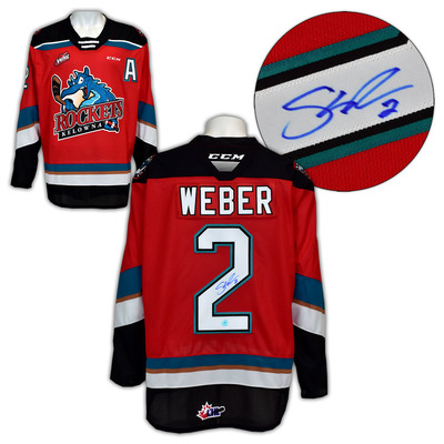 Shea Weber Kelowna Rockets Autographed CCM CHL Replica Hockey Jersey