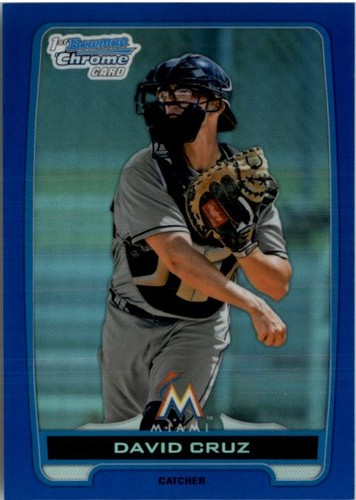 Photo of 2012 Bowman Chrome Draft Draft Picks Blue Refractors #BDPP152 David Cruz