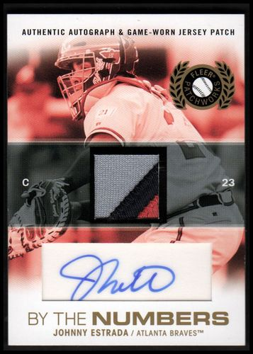 Photo of 2005 Fleer Patchworks By the Numbers Patch Autograph #JE Johnny Estrada 23/25