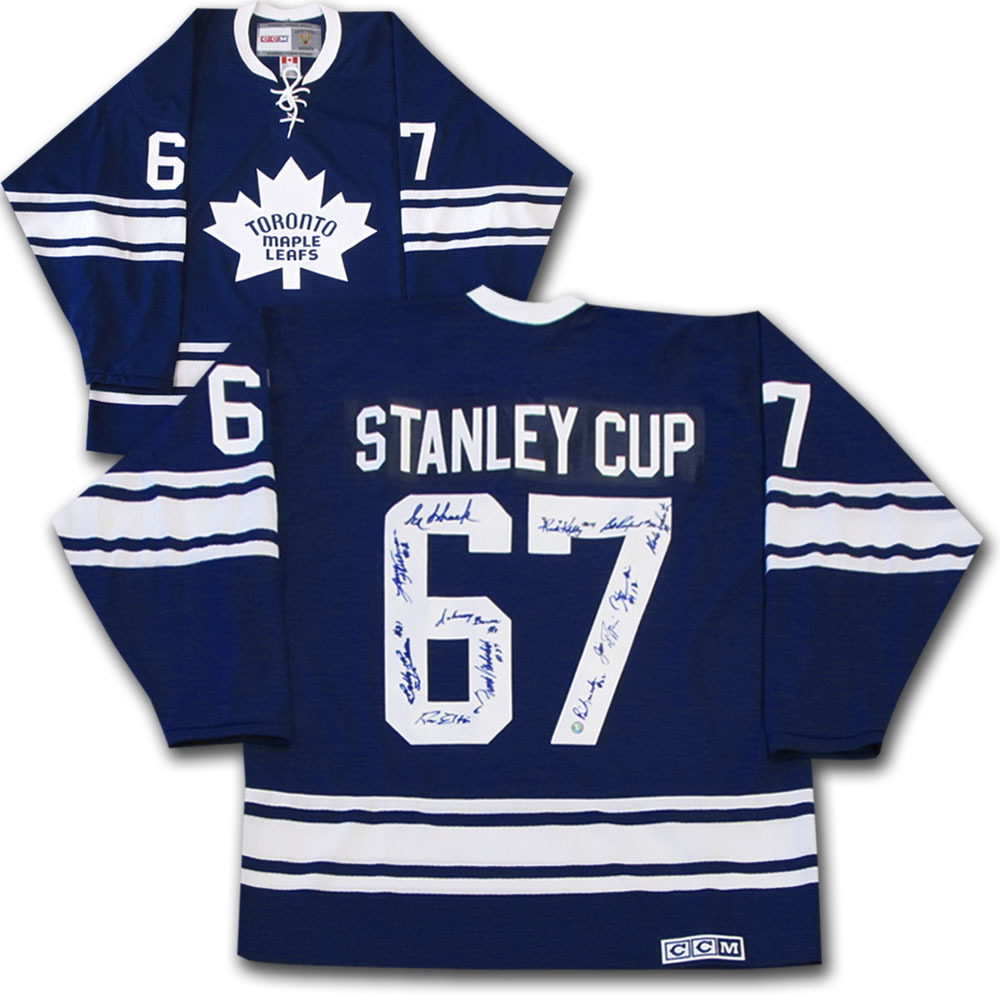 Toronto Maple Leafs Multi-Signed 1967 Stanley Cup Champions Jersey