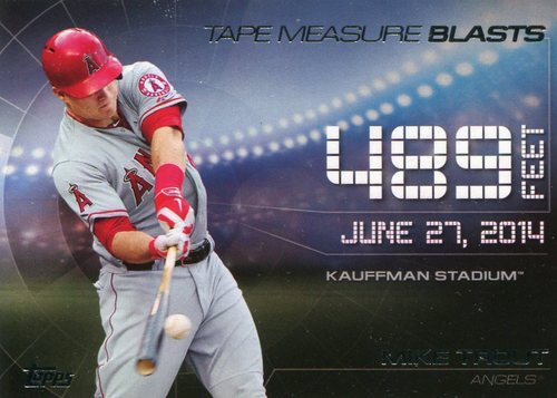 Photo of 2015 Topps Update Tape Measure Blasts  Mike Trout