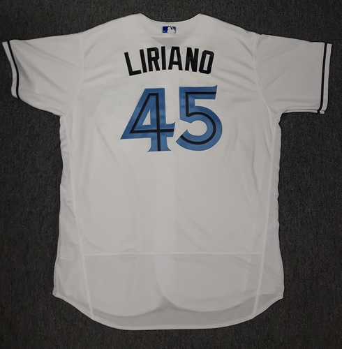 Photo of Authenticated Game Used Father's Day Jersey - #45 Francisco Liriano (June 18, 2017)