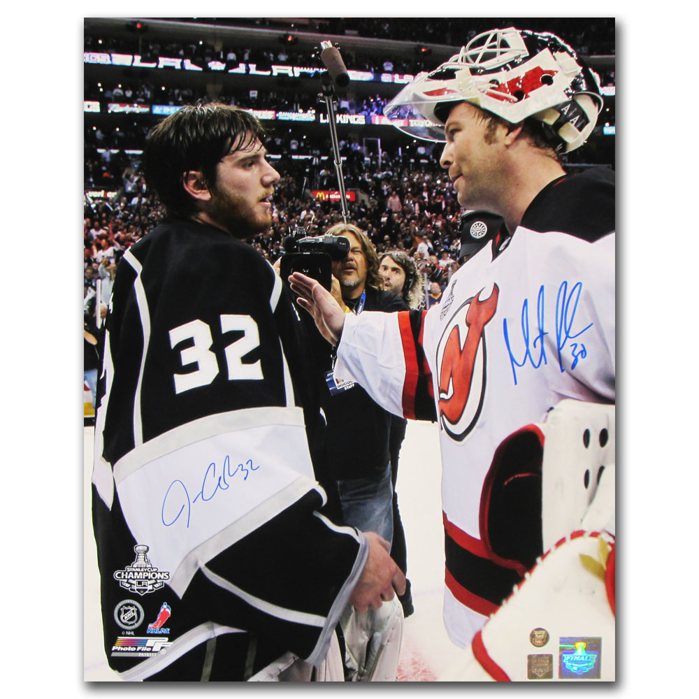 Martin Brodeur & Jonathan Quick Autographed 16X20 Photo