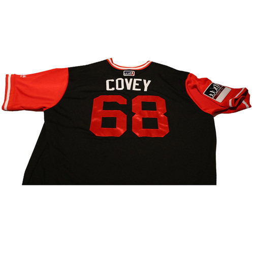 "Photo of Gregory ""Covey"" Infante Chicago White Sox Game-Used Players Weekend Jersey"
