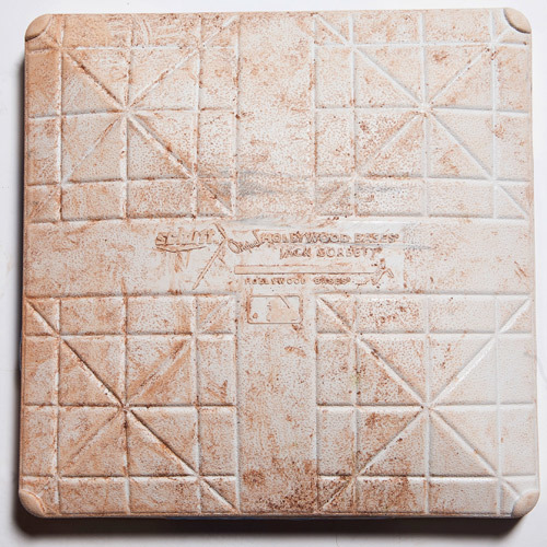Photo of Game-Used Base from MLB Little League Classic - 1st Base