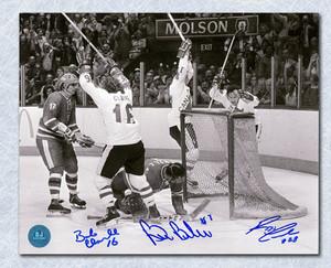 Bobby Clarke Bill Barber & Reggie Leach Autographed 1976 Canada Cup 8x10 Photo *Philadelphia Flyers*