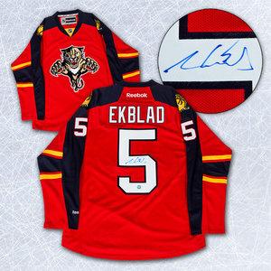 Aaron Ekblad Florida Panthers Autographed Reebok Premier Hockey Jersey *Size Medium*