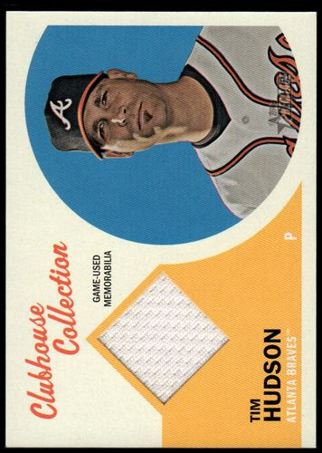 Photo of 2012 Topps Heritage Clubhouse Collection Relics #THU Tim Hudson