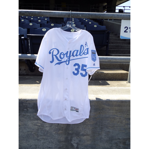 Photo of Game-Used Eric Hosmer Father's Day Jersey (Size 46) 6/19/16