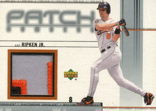 Photo of 2002 Upper Deck Game Jersey Patch #PNCR Cal Ripken N