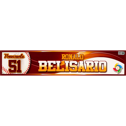 Photo of 2013 World Baseball Classic: Ronald Belisario (VEN) Game-Used Locker Name Plate
