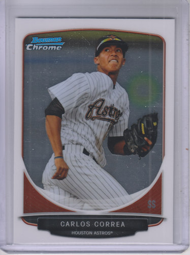Photo of 2013 Bowman Chrome Prospects #BCP100 Carlos Correa