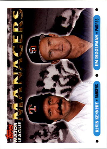 Photo of 1993 Topps #513 Kevin Kennedy MG/Jim Riggleman MG