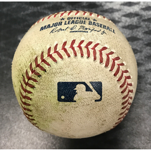 Photo of Game-Used Baseball - David Peralta Single vs. Pedro Baez