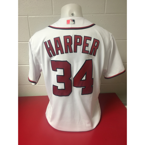 Photo of Bryce Harper Game-Used Jersey - 23 Run Game