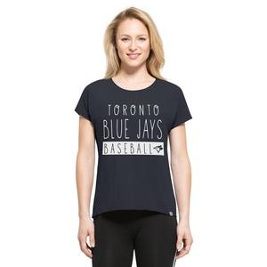 Toronto Blue Jays Women's Lumi T-Shirt Navy by '47 Brand