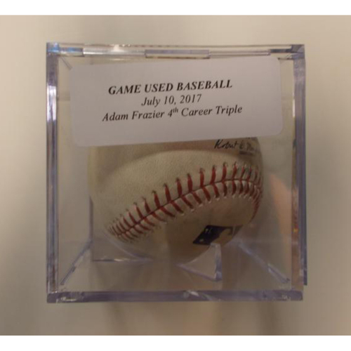 Photo of Game-Used Baseball: Adam Frazier 4th Career Triple