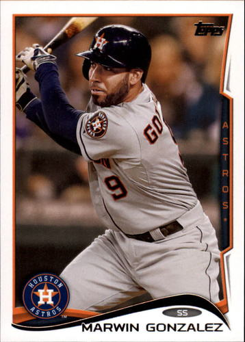 Photo of 2014 Topps Update #US317 Marwin Gonzalez -- Astros post-season