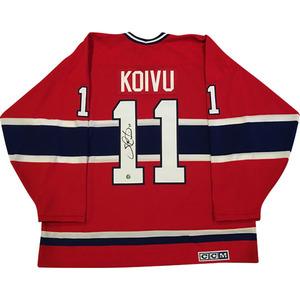Saku Koivu Autographed Montreal Canadiens Jersey
