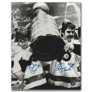 Bob Clarke & Bernie Parent Autographed Philadelphia Flyers 8X10 Photo