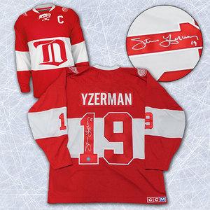 Steve Yzerman Detroit Red Wings Autographed Winter Classic Alumni Jersey
