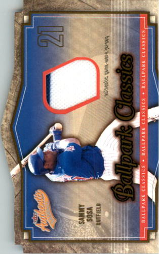 Photo of 2004 Fleer Authentix Ballpark Classics Jersey #SS Sammy Sosa