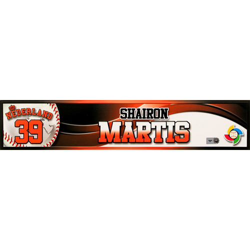 2013 World Baseball Classic: Shairon Martis (NED) Game-Used Locker Name Plate