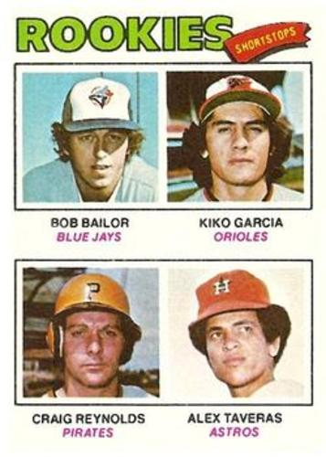 Photo of 1977 Topps #474 Rookie Shortstops/Bob Bailor RC/Kiko Garcia RC/Craig Reynolds/Alex Taveras RC