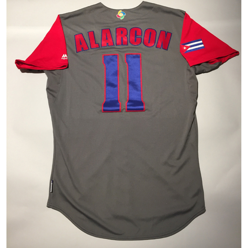 Photo of 2017 WBC: Cuba Game-Used Road Jersey, Alarcon #11