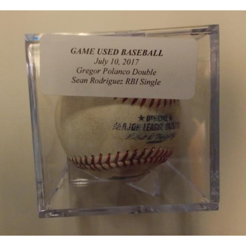 Photo of Game-Used Baseball: Gregory Polanco Double and Sean Rodriguez RBI Single