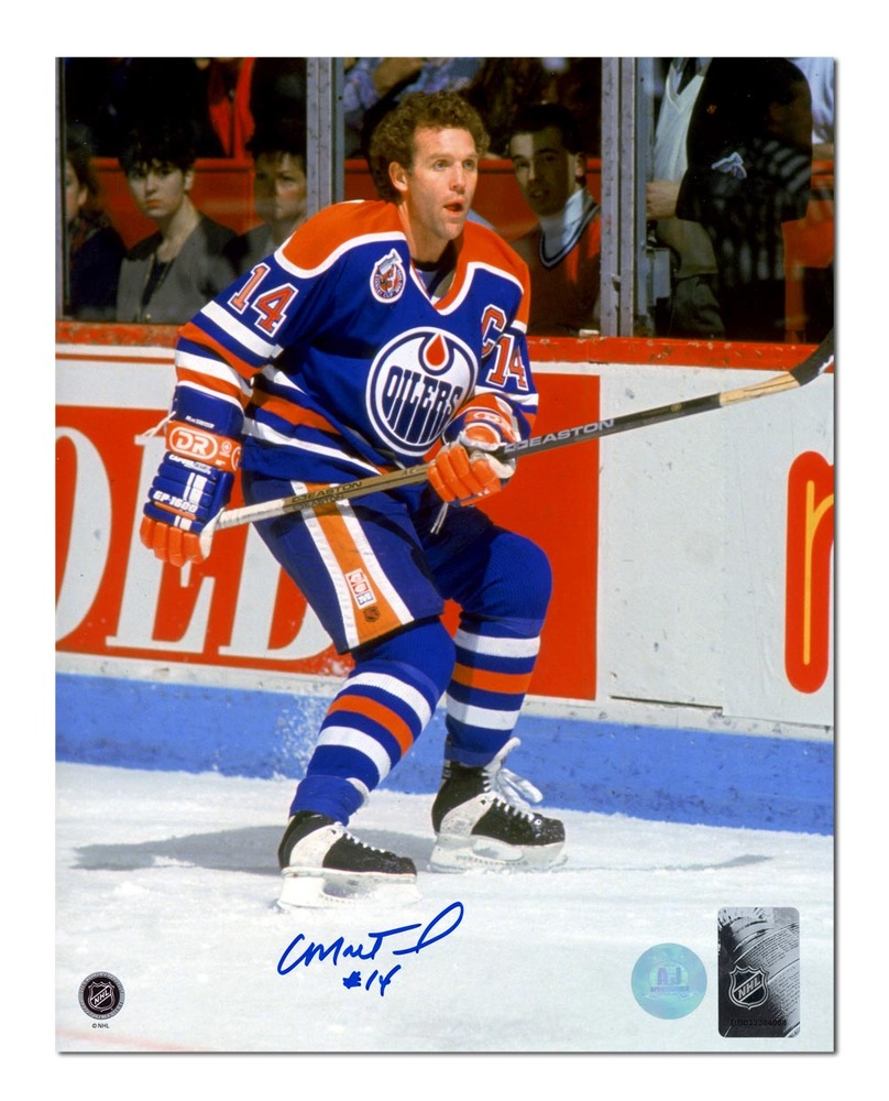 Craig MacTavish Edmonton Oilers Autographed Hockey Captain 8x10 Photo