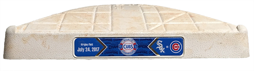 Photo of Game-Used 1st Base -- Cubs vs. White Sox -- 7/24/17 -- Used Innings 1 through 4