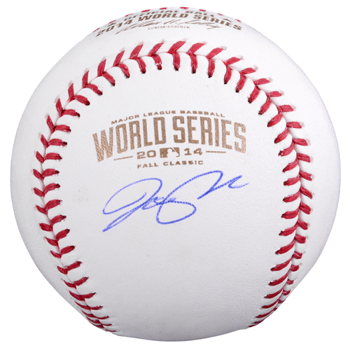 Photo of Joe Panik San Francisco Giants Autographed 2014 World Series Baseball