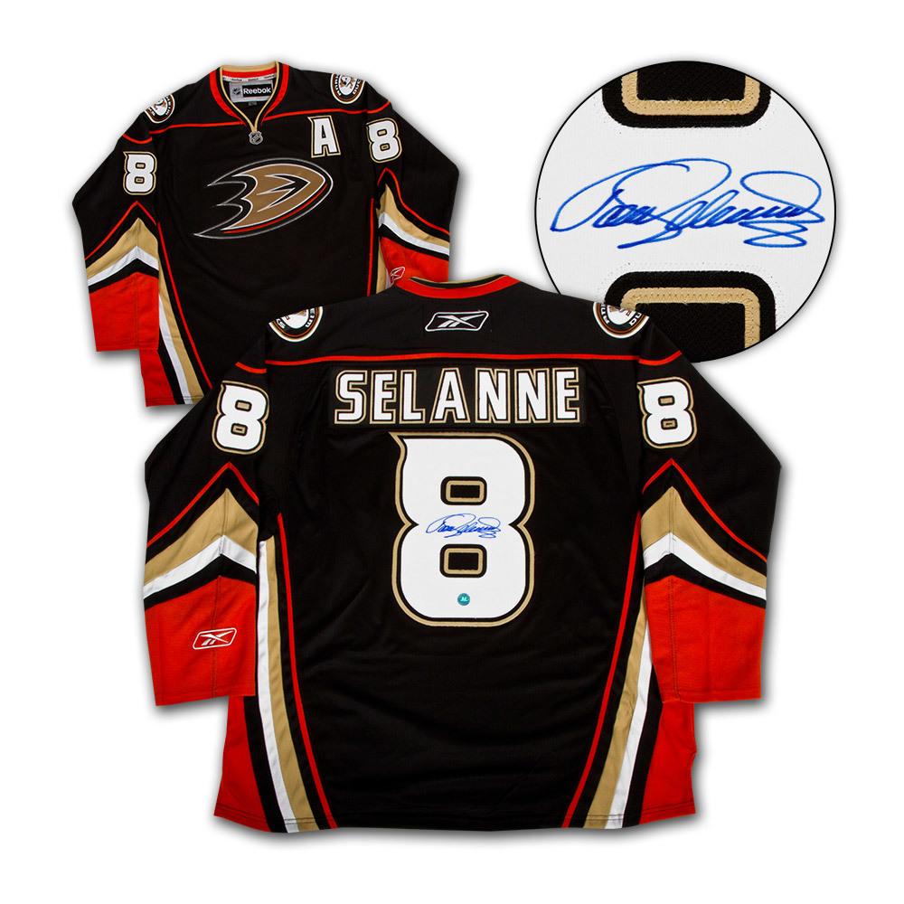 Teemu Selanne Anaheim Ducks Autographed Reebok Premier Hockey Jersey