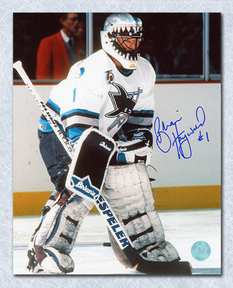 Brian Hayward San Jose Sharks Autographed 8x10 Photo