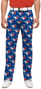 Toronto Blue Jays Men's All Over Logo Pants by Loudmouth Golf