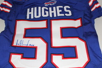 BILLS - JERRY HUGHES SIGNED AUTHENTIC BILLS JERSEY - SIZE 42
