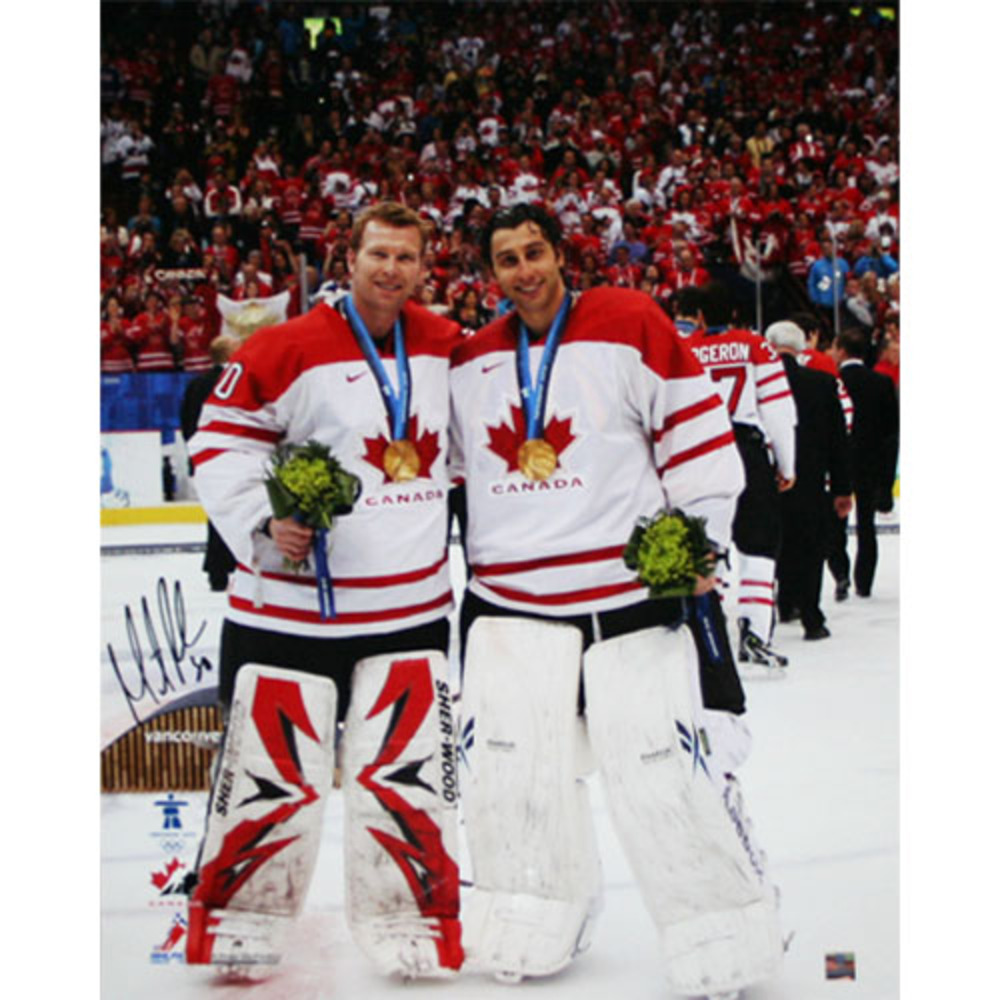 Martin Brodeur Autographed 2010 Team Canada 16X20 Photo (New Jersey Devils)
