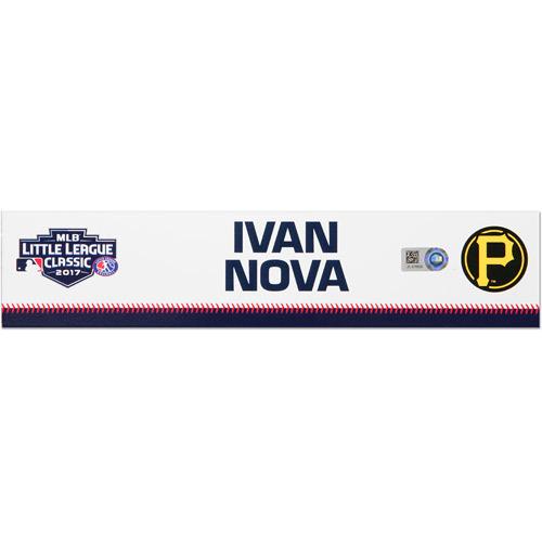 Photo of Pittsburgh Pirates Game-Used Locker Name Plate, Ivan Nova #46