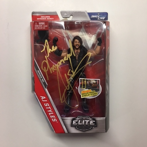 Photo of AJ Styles SIGNED Elite Series 51 Action Figure