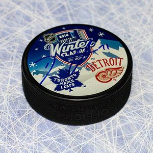 David Clarkson Toronto Maple Leafs Autographed 2014 Winter Classic Puck