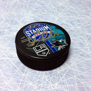 Joe Pavelski San Jose Sharks Autographed 2015 Stadium Series Puck