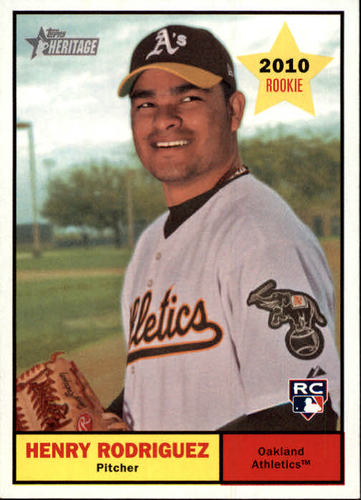 Photo of 2010 Topps Heritage #327 Henry Rodriguez RC