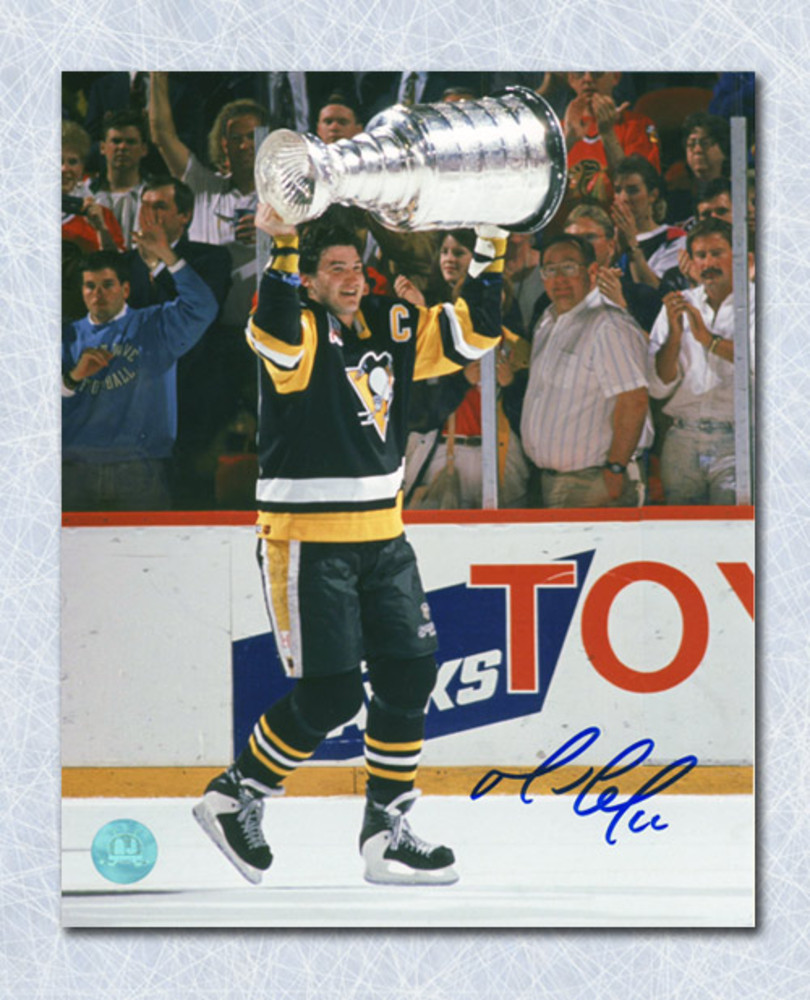 Mario Lemieux Pittsburgh Penguins Autographed 1992 Stanley Cup 8x10 Photo
