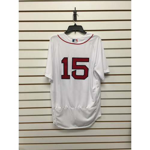 Photo of Dustin Pedroia Team Issued 2016 Home Jersey