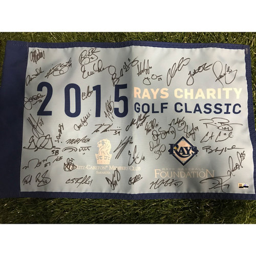 Photo of 2015 Autographed Golf Flag
