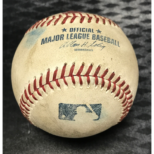 Photo of Game-Used Baseball - Miguel Cabrera Foul vs. Trevor Cahill