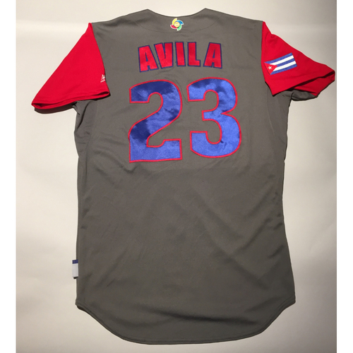 Photo of 2017 WBC: Cuba Game-Used Road Jersey, Avila #23