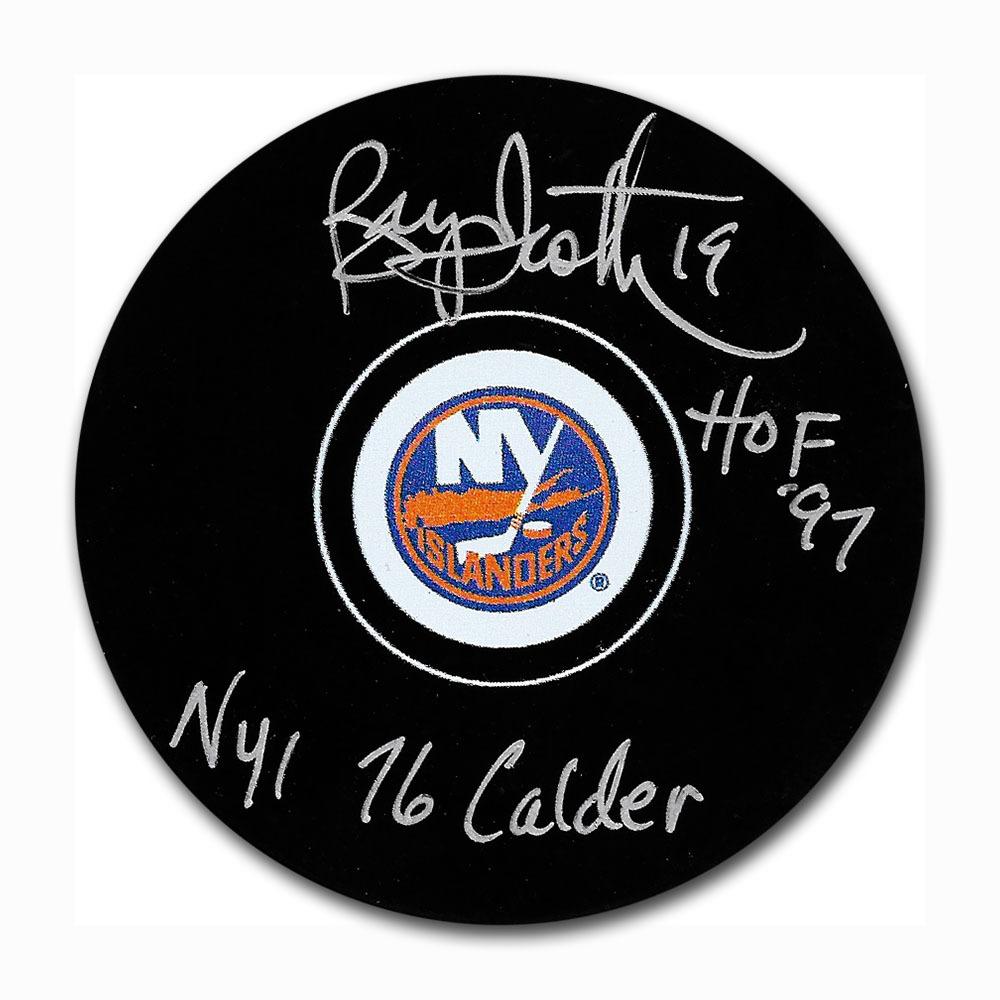 Bryan Trottier Autographed New York Islanders Puck w/