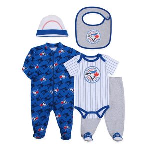 Toronto Blue Jays Newborn 5pc Layette Set by Snugabye